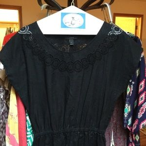 J Crew Dress 6 Black Circle Eyelet & Embroidery